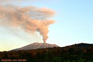 Erupción volcán Raung