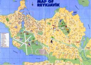 Mapa Reykjavik
