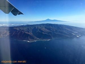 Vista aérea de La Gomera