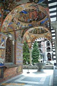 Pinturas en el Monasterio de Rila