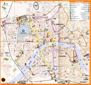 Mapa monumentos pisa