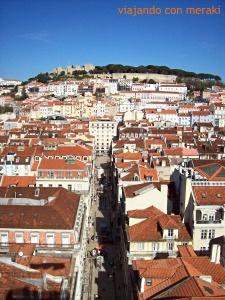 La Baixao y la colina del Castillo de San Jorge