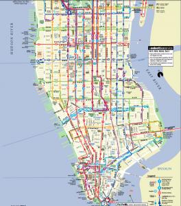 Plano autobuses Manhattan