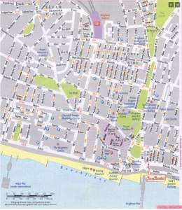 Mapa Brighton