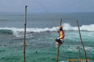 Pescadores típicos Sri Lanka