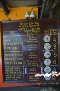 Horarios tren